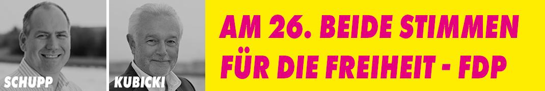Jan Schupp & Wolfgang Kubicki - Beide Stimmen für FDP